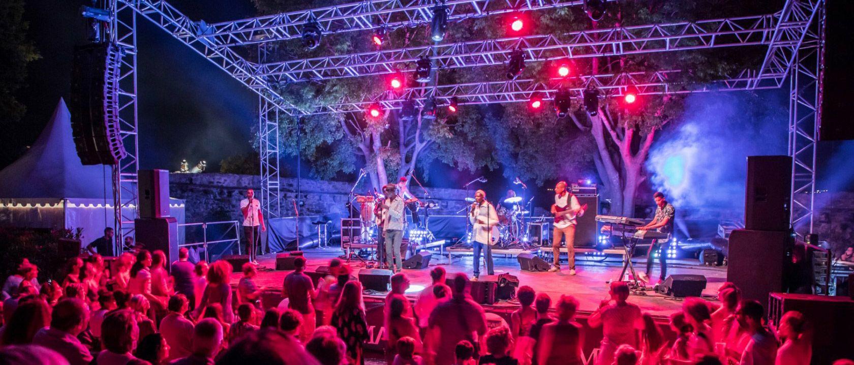 Camping Muziekfestival 'Les Grimaldines' in Grimaud