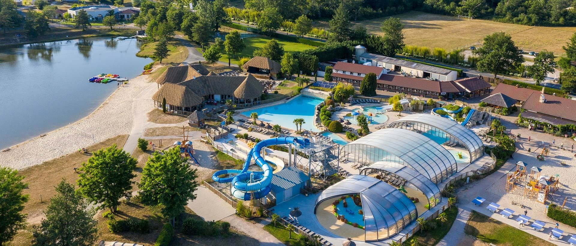Camping Water parks with waterslides